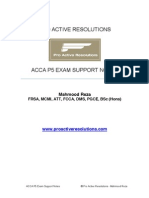 ACCA P5 Revision Notes