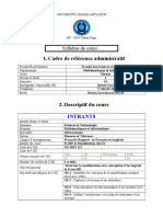 Syllabus Cours UML BD Master1 Retel