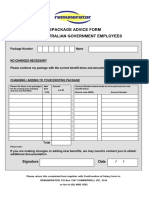 Employee Repackage Advice Form & Form 4 SA