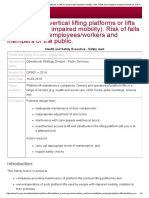 HSE_Platform Lifts (Vertical Lifting Platforms or Lifts for People With Impaired Mobility). Risk of Falls From Height to Employees_workers and Members of the Public