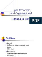 Legal Economic Organizational Issues in GIS