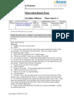 Observation Report 5