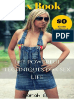 Sex Book - The Powerful Techniques for Sex Life - Sarah G.
