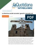 La Dottrina Sociale Secondo i Gesuiti e Secondo la Chiesa