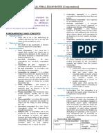 Corporation Law Finals Outline WMSU