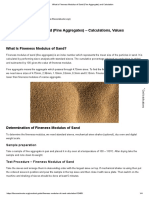 Fineness Modulus of Sand (Fine Aggregate) and Calculation