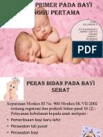 Asuhan Primer Bayi 2 Minggu