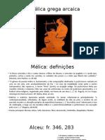 A Mélica Grega Arcaica