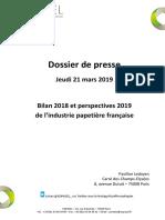 Bilan 2018 et perspectives 2019 de l'industrie papetière française