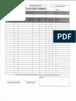 Formato Inspeccion Equipos y Herramientas