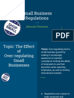 the effect of regulations on small businesses
