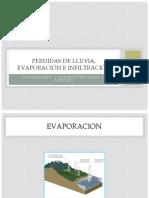 Unidad 5. Pérdidas de Lluvia, Infiltración y Evaporación