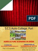 AGRICULTURE SCENARIO