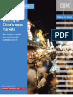 china mass markets