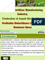 Liquid Biofertilizer Manufacturing Industry