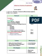 Cours Informatique Chapitre 1 Ordinateur et système d'exploitation - 7ème (2010-2011)