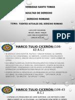 Fuentes Actuales del Derecho Romano.pptx