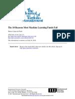 The Journal of Portfolio Management Volume 44 issue 6 2018 [doi 10.3905_jpm.2018.44.6.120] López de Prado, Marcos -- The 10 Reasons Most Machine Learning Funds Fail.pdf