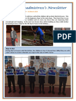 Newsletter No 69 - 15th March 2019