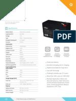 Acumulator Njoy PW9123D_Datasheet