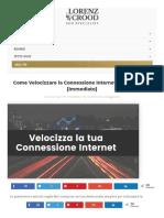 Velocizzare La Connessione Internet