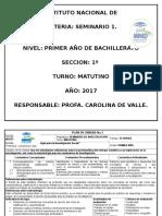 Planificacion Seminario I Karolina de Valle.