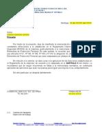 Carta Amonestación