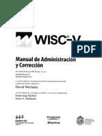 Wisc V (Versión chilena) Manual