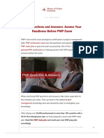 2019 PMP Questions and Answers_ Assess Your PMP Exam Readiness!