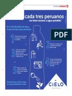Uno de Cada Tres Peruanos No Tiene Acceso Al Gua Potable