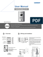 Commax Door Camera Drc-40k(en)-Product Manual