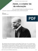 Émile Durkheim - Biografia
