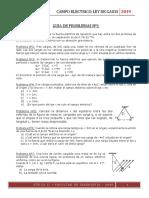 Guia de ejercicios campo electrico - ley de gauss