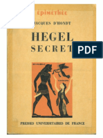 Jacques D'Hondt - Hegel Secret. Recherches sur les Sources Cachées de la Pensée de Hegel. (1968, Presses Universitaires de France).pdf