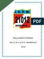 Reglamento Interno 2019