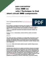 Técnica para encontrar componentes SMD en cortocircuito.docx