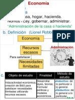 Sem01-Def, Etim, Obj-Fin-Met, Pensamiento Economico, DIv Econ, Prob Econ, Sist Econ