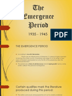 The Emergence Period (1)