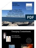 Issues of Emerging Contaminants, Rebecca Klaper, PhD, 9/2010