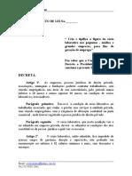 Ante Projeto de Lei cria afigura do SÓCIO LABORATIVO