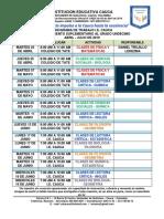 Cronograma Apoyo Académico Docentes Saber 11 i.e. Cauca 2019