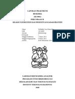 Laporan Praktikum Modul 2 Reaksi Uji Protein Dan Penentuan Kadar Protein