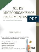CONTROL MICROORGANISMOS EN ALIMENTOS