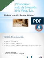 Análisis Financiero Caso Practico Bonos Inmobiliaria Vista