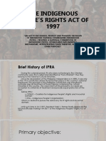 The Indigenous Peoples Rights Act of 1997 Group 3