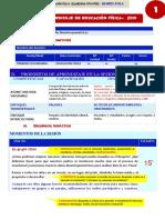 MODELO DE SESIÓN DE APRENDIZAJE EDUCACIÓN FÍSICA-TANDAZO