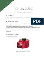 Informe de Corrección de factor de potencia UNI FIEE