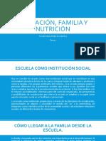 Educacion, Familia y Nutricion. Tarea 2