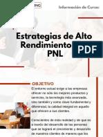 Curso Estrategias de Alto Rendimiento con PNL