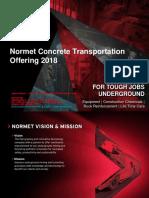 Normet Concrete Transportation Offering-Product Presentation-2017